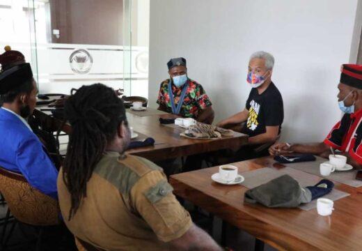 Sejumlah Mahasiswa di Papua Geruduk Ganjar Pranowo