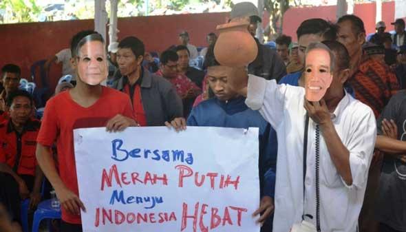 Syukuran, Sukarelawan Minta Jokowi-JK Jaga Ketahanan Pangan