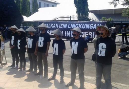 Sidang Perdana PTUN Semen Diwarnai Unjuk Rasa di Rembang dan Semarang
