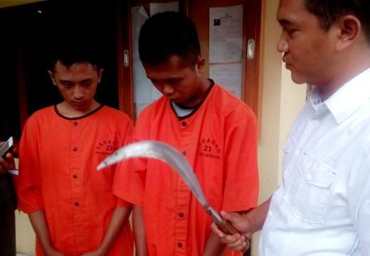 Selesai Dipenjara di Pati, Dua Begal Dicokok Polisi Rembang