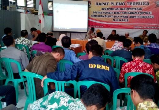 KPU Tetapkan 744 Pemilih Tambahan untuk Pilkada Rembang