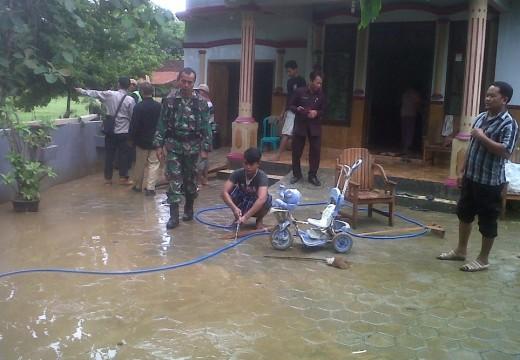 Belasan Rumah Warga Korowelang Dilanda Banjir