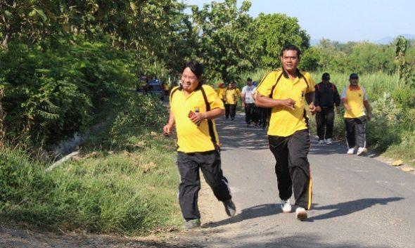 Polisi Gendut di Rembang Dihukum Lari Dua Kilometer