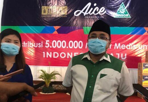 Aice Group Bersama GP Ansor Salurkan 5 Juta Masker Medis