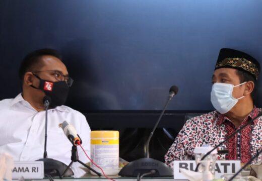 Menag Yaqut Jumpai Bupati dan Wakil Bupati Rembang