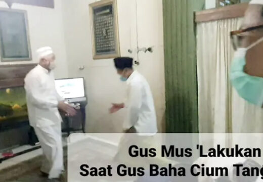 Video Momen Gus Baha Bersalaman dengan Gus Mus Viral di Sosmed