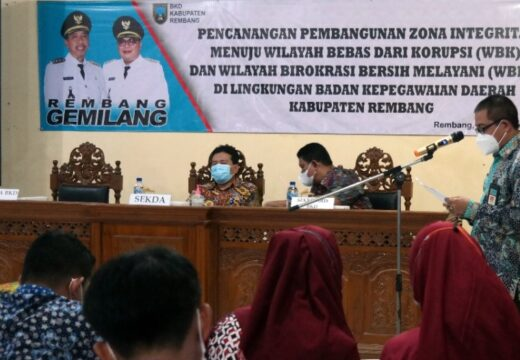 BKD Rembang Komitmen Tanpa Korupsi dan Bersih Melayani